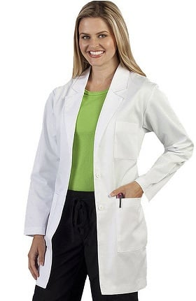 "Clearance Peaches Uniforms Women's Professional 34"" Lab Coat"