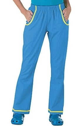 Clearance Peaches Uniforms Women's Contrast Thread Scrub Pants