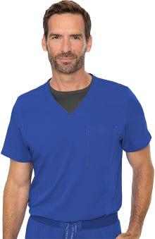 RothWear by Med Couture Men's Cadence Solid Scrub Top