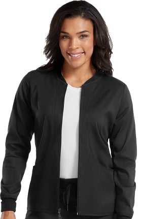 Clearance Touch by Med Couture Women's Performance Zip Front Solid Scrub Jacket