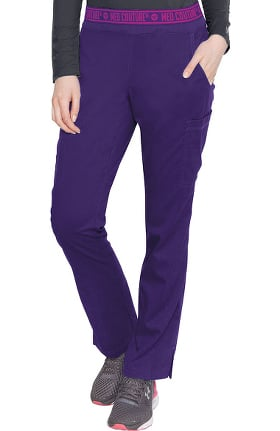 Clearance Touch by Med Couture Women's Ally Logo Elastic Waistband Cargo Scrub Pant