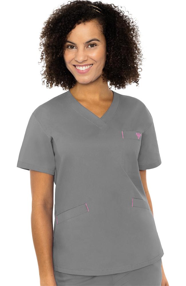 917a7adfbdb Med Couture Women's Signature V-Neck Solid Scrub Top | allheart.com