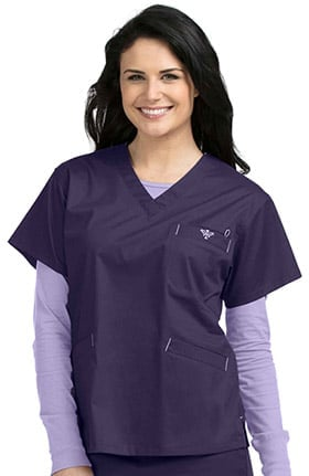 Med Couture Originals Women's Signature V-Neck Solid Scrub Top