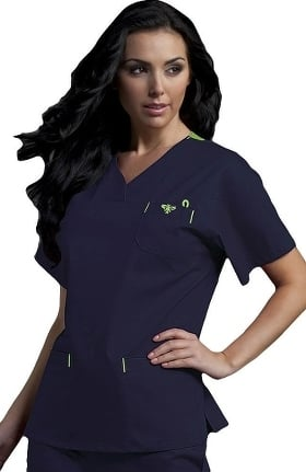 Clearance Med Couture Originals Women's Signature V-Neck Solid Scrub Top