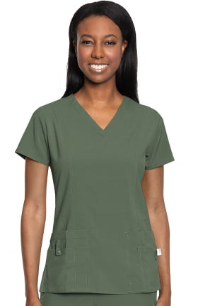 Activate by Med Couture Women's In Motion V-Neck Solid Scrub Top
