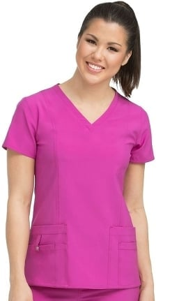 Clearance Activate by Med Couture Women's In Motion V-Neck Solid Scrub Top