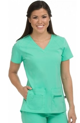 Clearance Activate by Med Couture Women's Refined V-Neck Solid Scrub Top