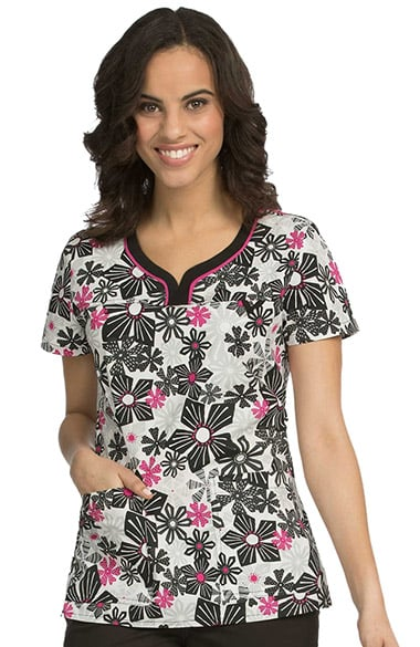 e675ac871d6 Clearance Women's Lexi Sport Neckline Floral Print Scrub Top. Clearance Med  Couture ...