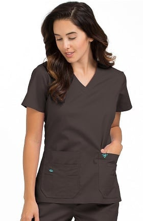 Med Couture Originals Women's Flex-It V-Neck Solid Scrub Top
