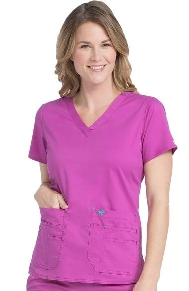 b94d6c038f5 Med Couture Women's Flex-It V-Neck Solid Scrub Top | allheart.com