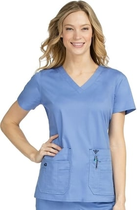 Clearance Med Couture Originals Women's Flex-It V-Neck Solid Scrub Top