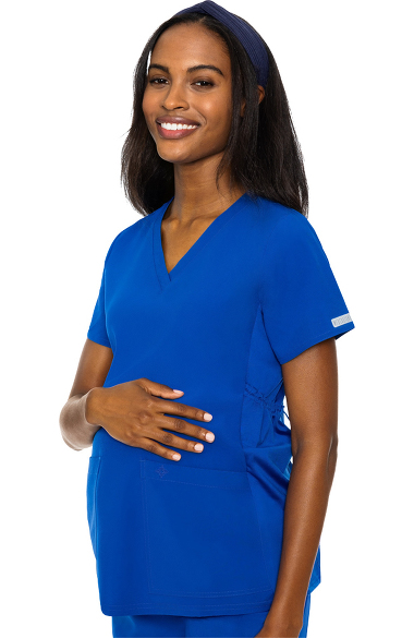 Med Couture Women S Maternity 4 Way Stretch V Neck Solid
