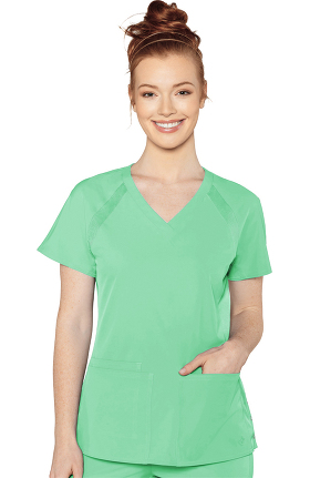 Clearance Peaches by Med Couture Women's Raglan Solid Scrub Top