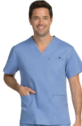 MC2 for Men by Med Couture V-Neck Scrub Top with Welt Pocket