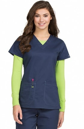 MC2 by Med Couture Women's Olivia V-Neck Scrub Top