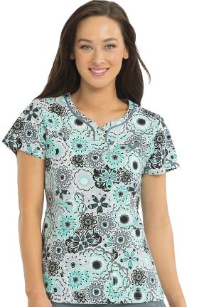 Med Couture Originals Women's Lexi Floral Print Scrub Top