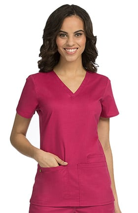 Clearance Med Couture Originals Women's Everyday V-Neck Solid Scrub Top
