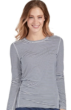 Activate by Med Couture Women's Performance Long Sleeve Stripe T-Shirt