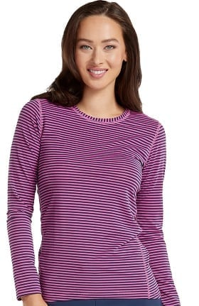 Clearance Activate by Med Couture Women's Performance Long Sleeve Stripe T-Shirt