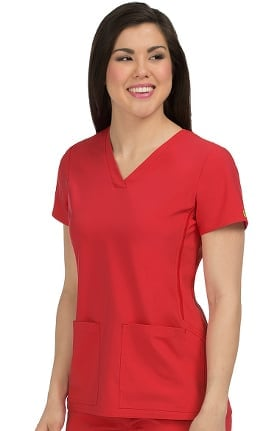 Activate by Med Couture Women's Power V-Neck Solid Scrub Top