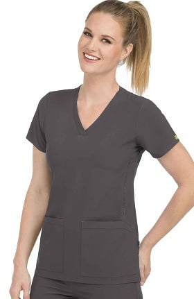 Clearance Activate by Med Couture Women's Power V-Neck Solid Scrub Top