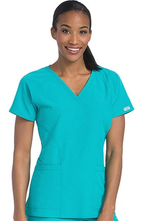 Clearance Air by Med Couture Women's Spirit V-Neck Solid Scrub Top