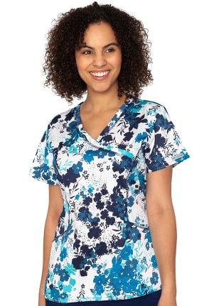 Originals by Med Couture Women's Venus Fall Gardens Print Scrub Top