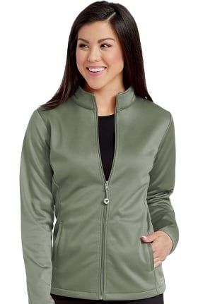 Clearance Activate by Med Couture Women's Med Tech Zip Front Solid Scrub Jacket