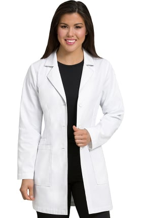 """Med Couture Originals Women's 34"""" Belted Back Lab Coat"""