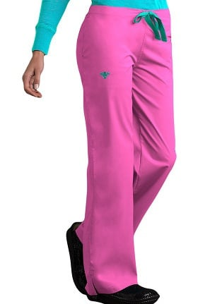Clearance Med Couture Women's Drawstring Solid Scrub Pant