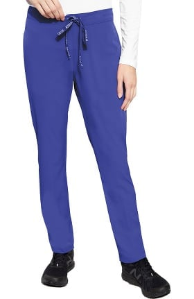 Peaches by Med Couture Women's Fitted Trouser Scrub Pant