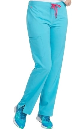 Clearance Energy by Med Couture Women's Drawstring Cargo Pocket Scrub Pant