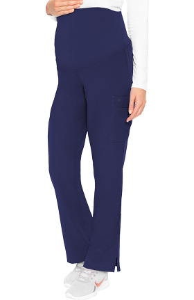 Med Couture Originals Women's Maternity 4 Way Stretch Cargo Scrub Pant