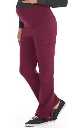 Clearance Med Couture Originals Women's Maternity 4 Way Stretch Cargo Scrub Pant