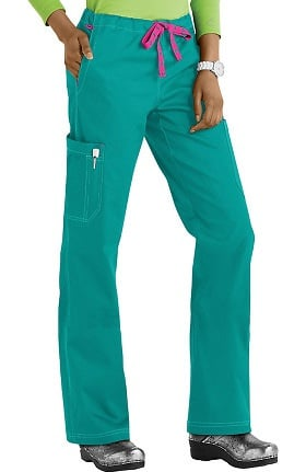 Clearance MC2 by Med Couture Women's Layla Drawstring Cargo Scrub Pant