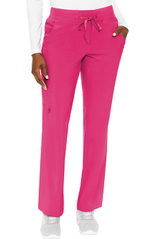 Activate by Med Couture Women's Transformer Knit Waistband Drawstring Scrub Pant