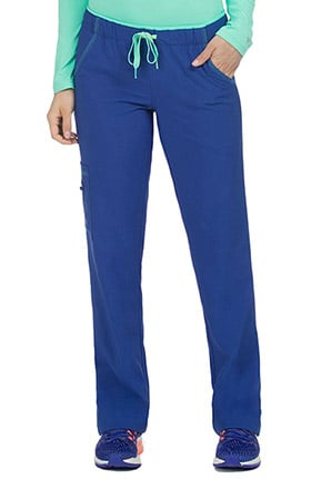 Clearance Activate by Med Couture Women's Color Block Drawstring Cargo Scrub Pant