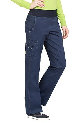 Clearance MC2 by Med Couture Women's Yoga Knit Waistband Cargo Scrub Pant