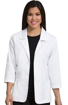 "Clearance Peaches Uniforms Women's Blazer Style 28"" Lab Coat"