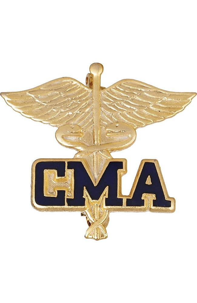 Prestige Medical Emblem Pin Certified Medical Assistant | allheart.com