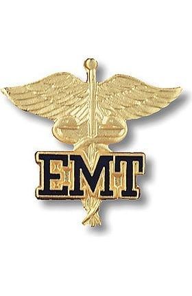 Prestige Medical EMT - Emergency Medical Technician (Letters On Caduceus) Pin