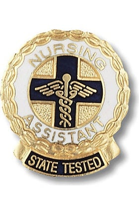 Prestige Medical Emblem Pin State Tested Nurses Assistant