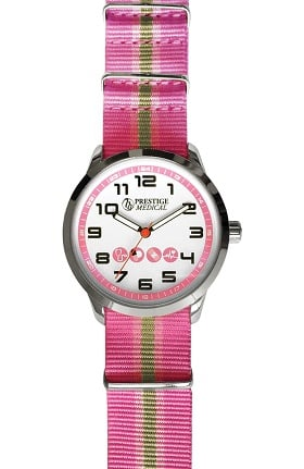 Prestige Medical Women's Nylon Striped Band Watch