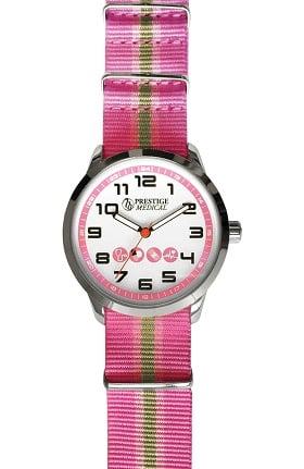 Prestige Medical Women's Nylon Striped Band Watch