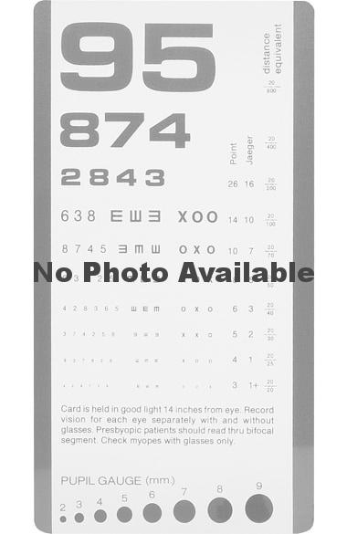 Prestige Medical Rosenbaum Pocket Eye Chart Allheart