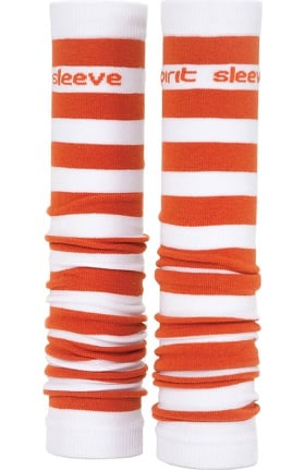 Med Sleeve Women's Burnt Orange and White Stripes