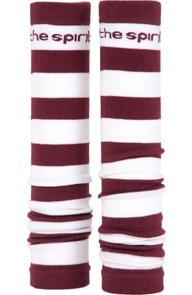 Med Sleeve Women's Maroon and White Stripes