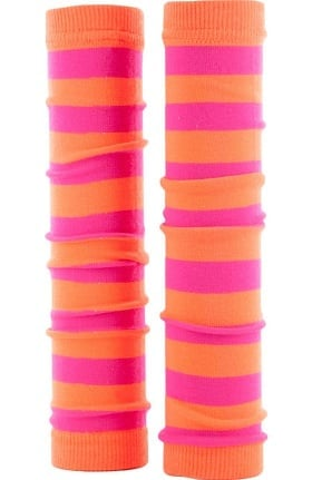 Med Sleeve Women's Neon Pink and Orange Stripes
