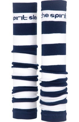 Med Sleeve Women's Navy and White Stripes