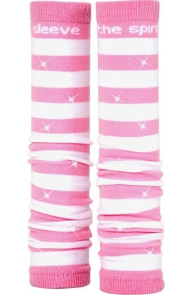 Med Sleeve Women's Pink and White Stripes with Bling
